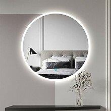 Aica Sanitär LED Badspiegel rund 80 cm Touch