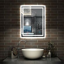 AicaSanitär LED Spiege 50×70cm Badspiegel mit