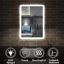 AicaSanitär LED Spiegel 50×70cm Badspiegel mit