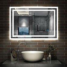 AicaSanitär LED Spiegel 90×70cm Badspiegel mit