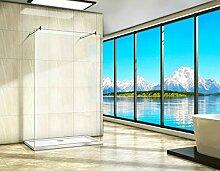 Aica Sanitär walk in Dusche 147 x 200cm Duschwand