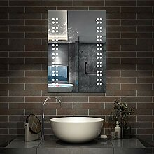 AicaSanitär Wandspiegel 50×70cm Wandschalter