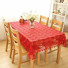 Aich Spitze Tisch-Abdeckung Roten,Ist EIN echter