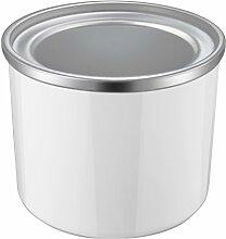 Aicok Eisbehälter für Eismaschine, 1,5 L, Silber