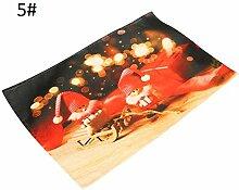 Aidou Weihnachtsgeschirr Platzsets, Platzdeckchen,