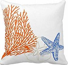 aidoue türkis Coral Kissenbezüge Dekorieren für ein Sofa Kissenbezug Kissen 45,7cm #3
