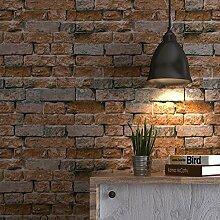 AIEK 3D Brick Tapete Café Bäckerei Kleid