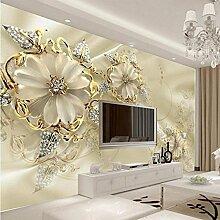 AIEK 3D Diamant Blume Wandpaneele für TV