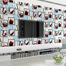 AIEK Modernes Einfaches Rotwein Glas Vliestapete