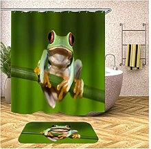 AieniD Bad Vorhang Mit Magnet Frosch Bunt