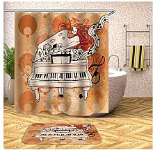 AieniD Duschvorhang Durchsichtig Fest Musik