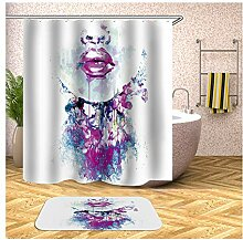 AieniD Duschvorhang Durchsichtig Mädchen Gesicht