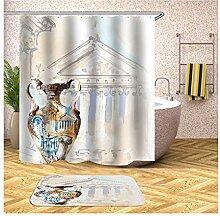 AieniD Duschvorhang Durchsichtig Taschen Vase
