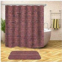 AieniD Duschvorhang Durchsichtig Taschen