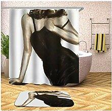 AieniD Duschvorhang Wasserabweisend Durchsichtig