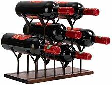 AiFanS Weinregal für 6 Flaschen
