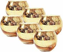 Aiglen 6/12 Stück Quecksilberglas Kerzenhalter