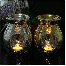 Aiglen Handgemachte Vintage versilberte Glas