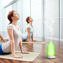 Aiho Aroma Diffuser 100ml Luftbefeuchter Ultraschall Humidifier Vernebler Öl Diffusor Duftlampe LED mit 7 Farben für Yoga Schlafzimmer Büro