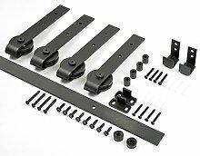 aihom 1220mm Mini Schiebetüren Schrank Double Scheunentor Hardware für 2