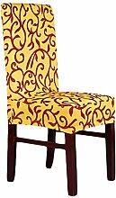 aihometm Spandex Stretch chaircase Esszimmerstuhl Cover für Hochzeit Hotel Banquet Dekoration Yellow Coffee