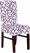 aihometm Spandex Stretch chaircase Esszimmerstuhl Cover für Hochzeit Hotel Banquet Dekoration Weiß Lila