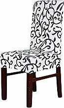 aihometm Spandex Stretch chaircase Esszimmerstuhl Cover für Hochzeit Hotel Banquet Dekoration Weiß/Schwarz