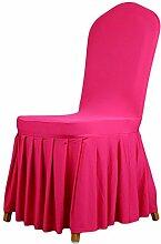 aihometm Stretch Sitz Stuhl Bezug Stillkissen Plissee Rock Design für Hochzeit Hotel Banquet Dekoration Hot Pink