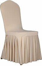aihometm Stretch Sitz Stuhl Bezug Stillkissen Plissee Rock Design für Hochzeit Hotel Banquet Dekoration Champagne