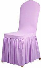 aihometm Stretch Sitz Stuhl Bezug Stillkissen Plissee Rock Design für Hochzeit Hotel Banquet Dekoration viole
