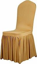 aihometm Stretch Sitz Stuhl Bezug Stillkissen Plissee Rock Design für Hochzeit Hotel Banquet Dekoration gold