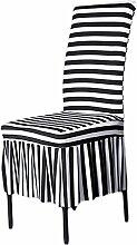 aihometm Stretch Stuhlhusse Zebra Stripe Design Bettüberwurf Extra Schwere für Hochzeit Hotel bankettsaal Zeremonie Type C