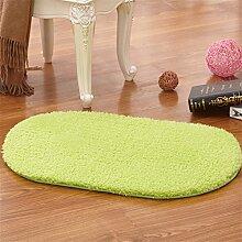 Aik@ Absorbierenden Leicht zu reinigen Teppich,Anti-rutsch Innen Draussen Teppich Weich Kleine matte Oval Moderner plüsch teppich-A 50x120cm(20x47inch)