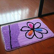 Aik@ Anti-rutsch Badezimmer Fußmatte,Absorbierenden Mat Moderne Polyester Fußmatten Eingang teppich Leicht zu reinigen-H 50x80cm(20x31inch)
