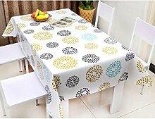 AIKE Wasserdichte Tischdecken PVC Tischdecken,