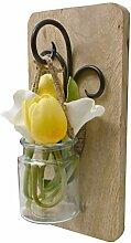 AIKYA Wandleuchter mit künstlichen Blumen.