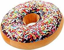 Ailiebhaus Donut Soft Kissen Schokoladen Plüsch