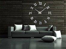 Ailier® Wanduhren Modern Küche Groß 3D Acryl Spiegel Wall Clock Mirror Surface Stickers Home Decoration