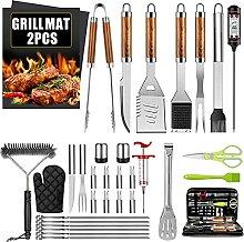 AILUKI 34 PCS BBQ Grillbesteck Tool Set Edelstahl