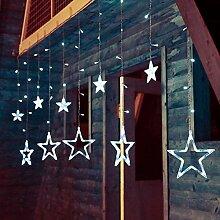 AIMENGTE LED Pentagramme Lichterkette, dimmbare