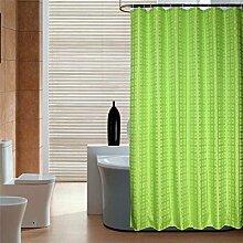 AIMENTE Duschvorhänge Polyestergarn Duschvorhang Duschvorhanghaken Uni Anti-Schimmel/Anti-Bakteriell Badezimmer Vorhang mit Haken 180X180cm