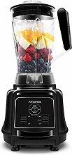 AIMORES Standmixer Smoothie Maker Mixer, Hochleistungsmixer 28,000 U/min, Eiscrusher mit 2.2L BPA freier Tritan Krug, Optimierte 6 Edelstahlklingen, Stößel & Rezept, CE/LFGB/RoHS, Schwarz