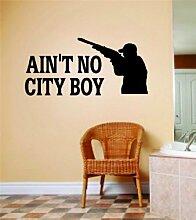 Ain't No City Boy Buchstaben mit Hirsch Buck