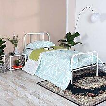 Aingoo Bett Weiß 90x200 Metallbett Weiß mit