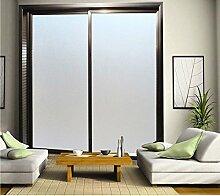 Aingoo Blickdicht Fensterfolie Milchglasfolie Sonnenschutzfolie Sichtschutzfolie Selbstklebend ohne Klebstoff 05 45x200cm
