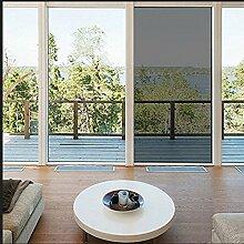 Aingoo Fenster Folie Sonnenschutzfolie Spiegelfolie Schwarz Tönungsfolie Sonnenschutz Fensterfolie Spion Folie mit Kleber 90x200cm