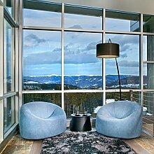 Aingoo Fenster Spiegelfolie Silber Tönungsfolie Sonnenschutz Fensterfolie Spion Folie mit Kleber 90x200cm