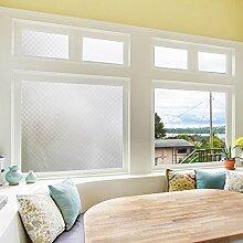 Aingoo Fensterfolie Sichtschutzfolie Fenster Folie Klebefolie Fenster Sonnenschutzfolie Tuerfolie Glasfolie Anti UV 90*200cm(35.4*78.7 inch)