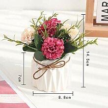 AIOXY Kunstblumen Topfpflanze, 14 x 8 cm Indoor