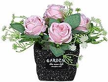AIOXY Kunstpflanze Künstliche Blumen Rose Deko